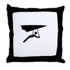 Glide Free White Throw Pillow