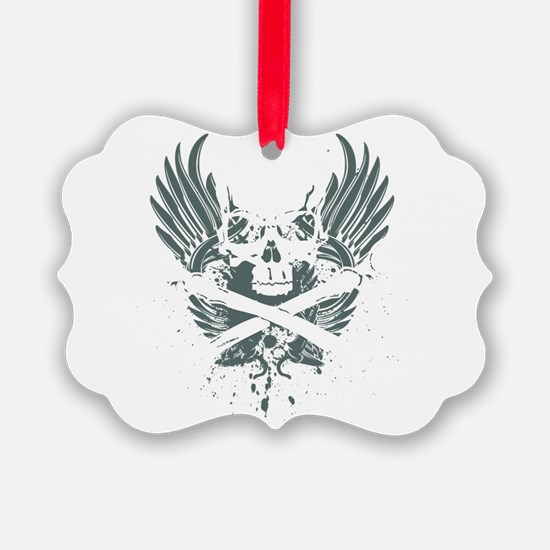 Lacrossskull Ornament