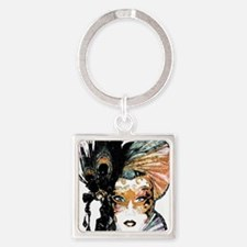 faceMask_Grunge_3_apron Square Keychain