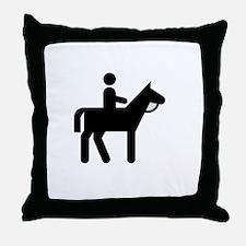 Horses Broke White Throw Pillow