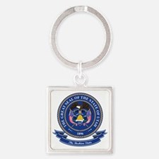 Utah Seal Square Keychain