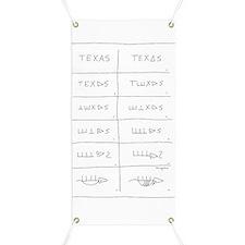 Texas Armadillo Banner