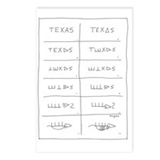 Texas Armadillo Postcards (Package of 8)