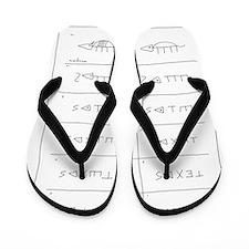 Texas Armadillo Flip Flops
