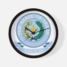 Texas Seal Wall Clock