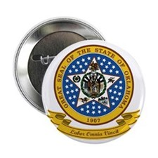 """Oklahoma Seal 2.25"""" Button"""