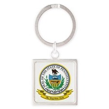 Pennsylvania Seal Square Keychain