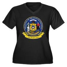 Wisconsin Se Women's Plus Size Dark V-Neck T-Shirt