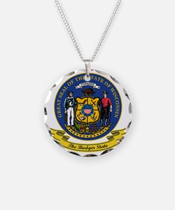 Wisconsin Seal Necklace