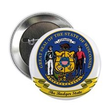 "Wisconsin Seal 2.25"" Button"