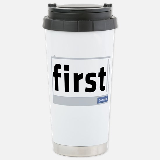 First Comment Stainless Steel Travel Mug
