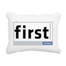 First Comment Rectangular Canvas Pillow