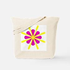 Pink Yellow Crest Designer Tote Bag