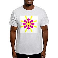 Pink Yellow Crest Designer T-Shirt
