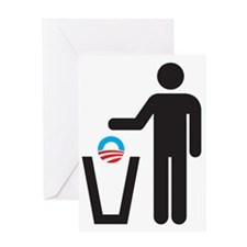 Dump Obama Greeting Card