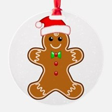 Gingerbread Man with Santa Hat Ornament