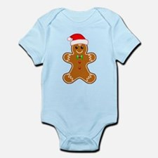Gingerbread Man with Santa Hat Body Suit