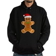 Gingerbread Man with Santa Hat Hoodie