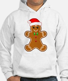 Gingerbread Man with Santa Hat Hoodie