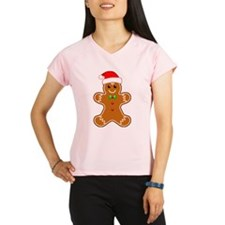 Gingerbread Man with Santa Hat Performance Dry T-S