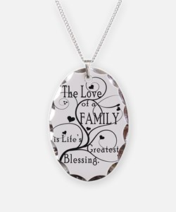LoveOfFamily1 Necklace Oval Charm