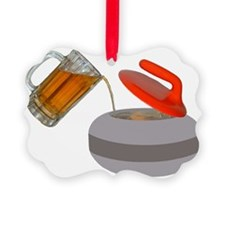 Fueled by beer cartoon rock PNG Ornament