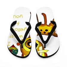 oh_dear_yellow Flip Flops