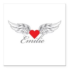 "Angel Wings Emilie Square Car Magnet 3"" x 3"""