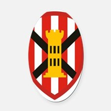 7th Engineer Bde Oval Car Magnet