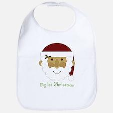 1st Christmas Santa Bib