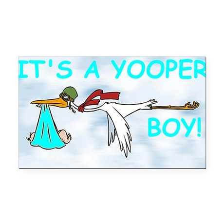 Its_A_Yooper_Boy.gif Rectangle Car Magnet