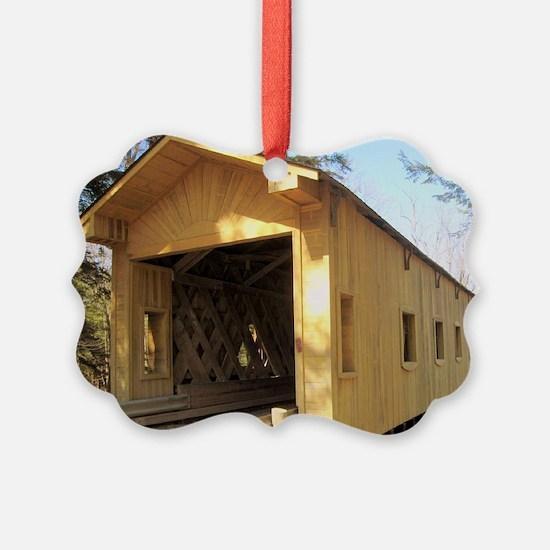 CoveredBridgePostcard Ornament
