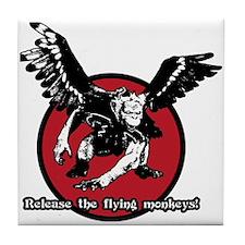 Release The Flying Monkeys Tile Coaster