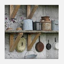VintageRustyHousewaresToteBag Tile Coaster