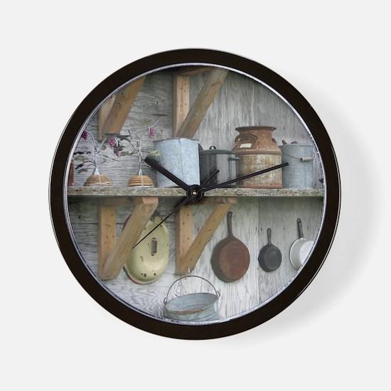 VintageRustyHousewaresToteBag Wall Clock