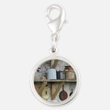 VintageRustyHousewaresToteBag Silver Round Charm