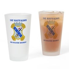 1-8 in Rgt With Text Drinking Glass