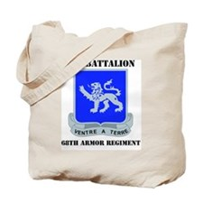 DUI - 1-68th Armor Regiment with Text Tote Bag