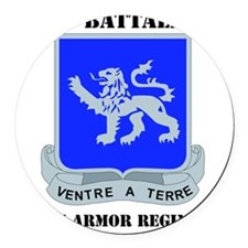 DUI - 1-68th Armor Regiment with  Round Car Magnet