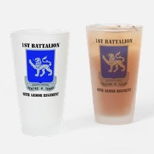DUI - 1-68th Armor Regiment with Te Drinking Glass