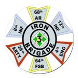 3rd infantry division Round Car Magnets