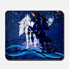 Two Unicorn Stallions-Yardsign Mousepad