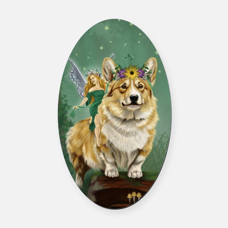 fairy steed Oval Car Magnet