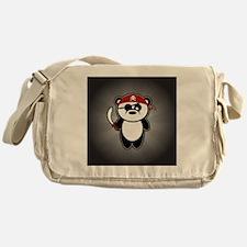 pirate-panda_striped-01 Messenger Bag