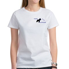 Women's T-Shirt not just a size- big on back!!