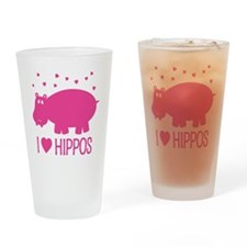 PinkHippo Drinking Glass