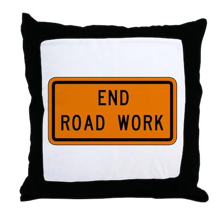End Road Work - USA Throw Pillow