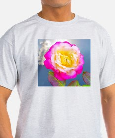 French Perfume Rose Throw Pillow T-Shirt
