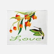 humming Bird Love Throw Blanket
