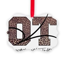 camo letters leopard norm ot Ornament